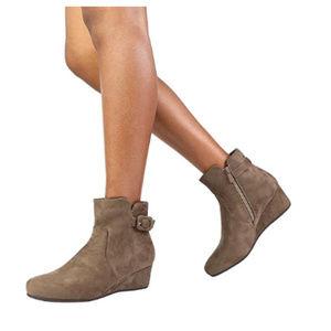 Women's Low Wedge Heel Ankle Booties